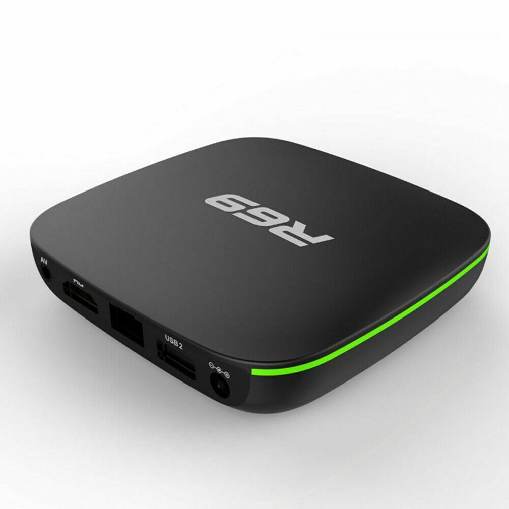 R69 Android 7.1 Smart TV Box 1+8G Quad Core HD 2.4GHz WiFi 4K Media Player 1080P HD Support 3D Movie EU Plug