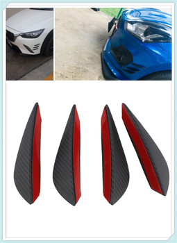 Auto parts 4PCS carbon fiber car spoiler small wind knife front bumper for Mercedes Benz A-Class X-Class S65 S63 S600 S560e A180 image