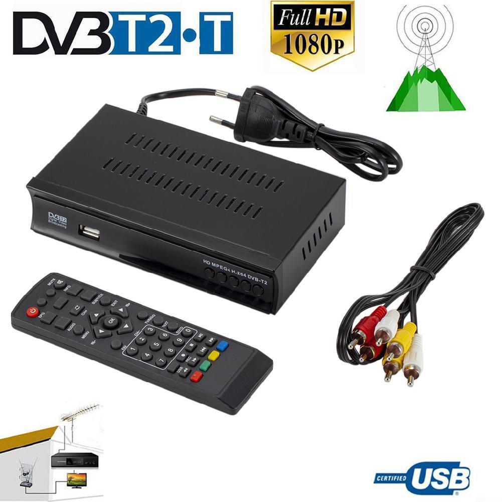 Récepteur DVB-T2 récepteur HDMI récepteur de télévision par Satellite Tuner Full HD 1080P Dvb-t2 H.264 Tuner terrestre boîtier de télévision numérique gratuit