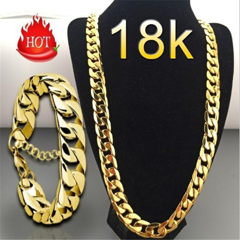 Sitaicery Punk Cuban Chain Gold Necklace Men 45/50/55/60/65/70/75CM Link Curb Chain Long Necklace For Men Women Fashion Jewelry