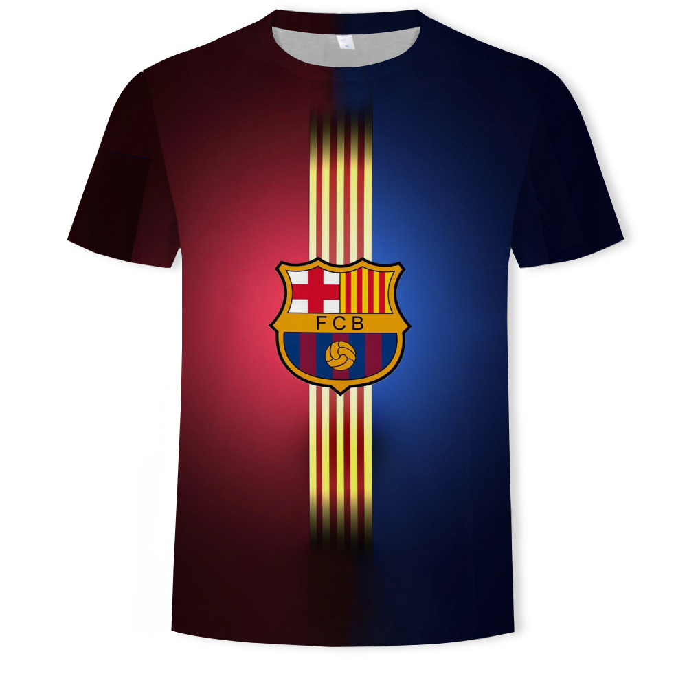 2019 Fútbol Club Barcelona   t  -  shirt   Men 3D print   t  -  shirt   tops Man casual short sleeve   t     shirts   Spanish League home away jersey
