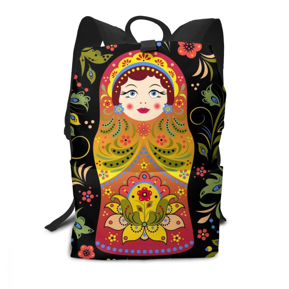 Russian Doll Backpack Russian Doll Backpacks Multi Function Trending Bag Street Pattern Teen High Quality Bags