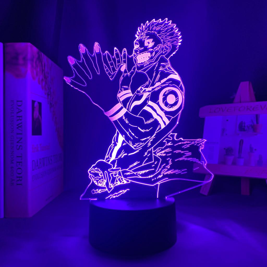 H8f1b00b6a2bc4c1fba3a7deac6a679f90 Luminária Luz da noite do diodo emissor de luz da noite para o presente de aniversário jjujutsu kaisen nightlight ryomen sukuna lâmpada