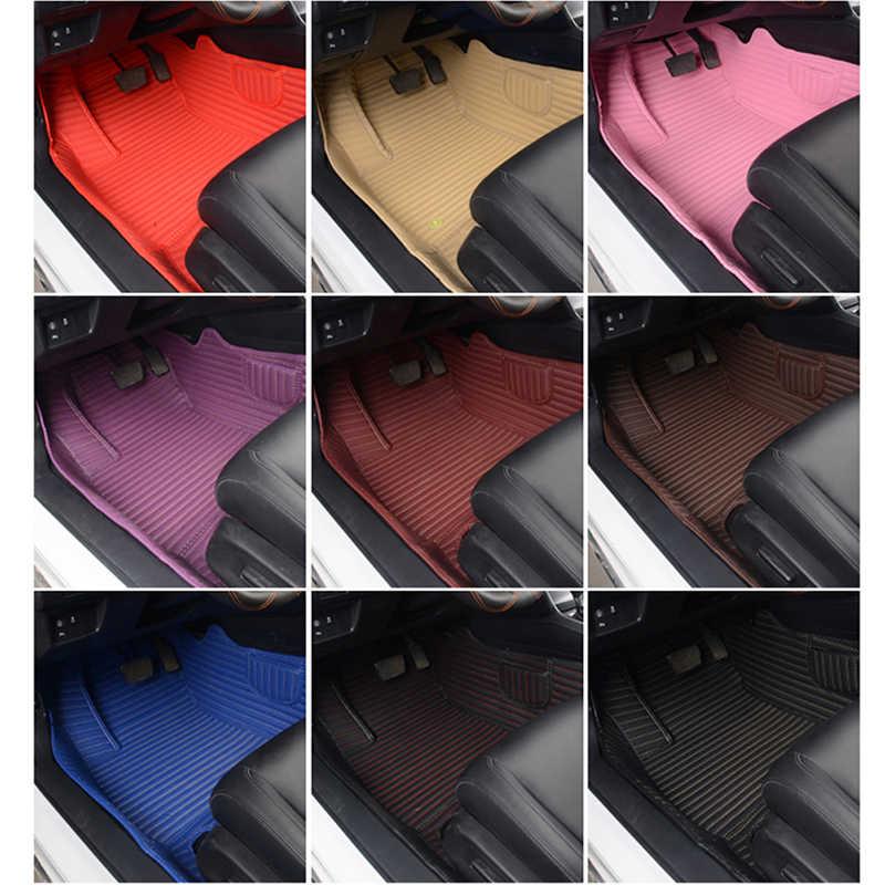 FUZHKAQI カスタム革の車のフロア足マットオペルアンタラためアストラ 18k h グラム j zafira tourer ベクトラ自動車の付属品車の足マット