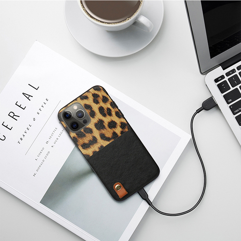 Leopard Pattern Leather Shockproof Soft Case for iPhone 12 Pro Max
