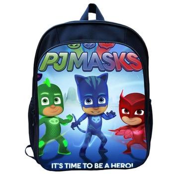35cm PJ Mask Juguete Kids Bag Kindergarten Backpack Anime Figure Catboy Owlette Gekko Cartoon Pj Masks Children Backpack  S47