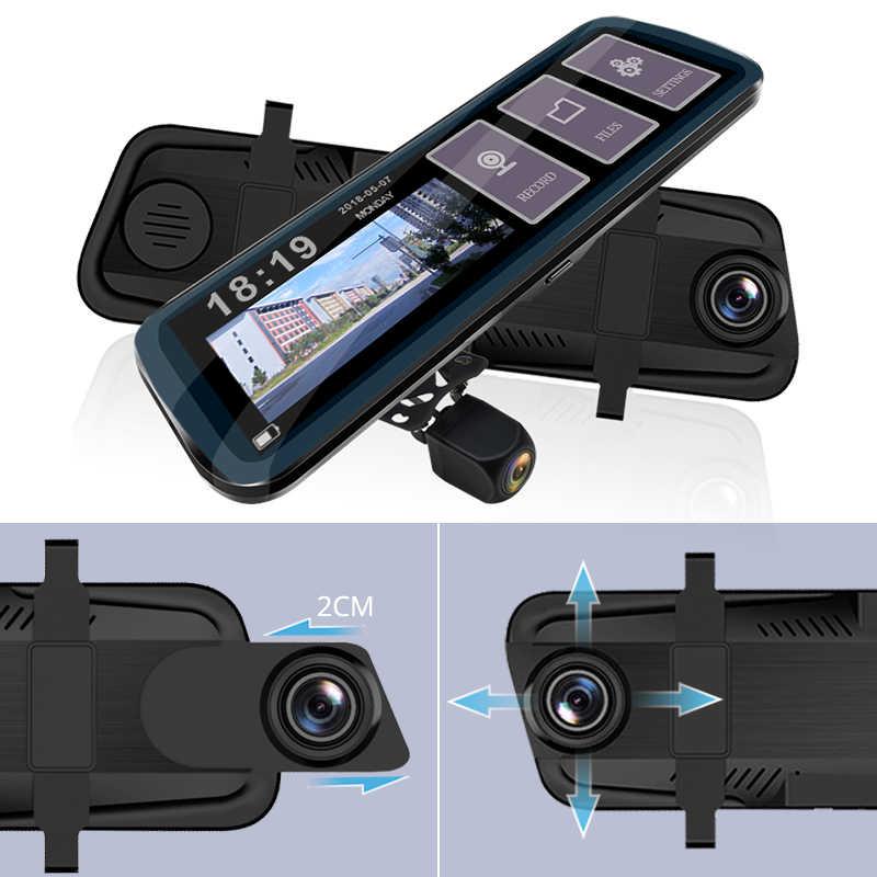 E-ACE سيارة كاميرا DVR 10 بوصة يتدفقون مرآة الرؤية الخلفية داش كاميرا FHD 1080P السيارات مسجل مسجل فيديو مع كاميرا الرؤية الخلفية