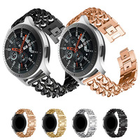 22Mm Rvs Band Voor Samsung Galaxy Horloge 3 45Mm 46Mm Band Cowboy Chain Horlogeband Voor Gear s2/3 Huawei Horloge Gt 2 20Mm