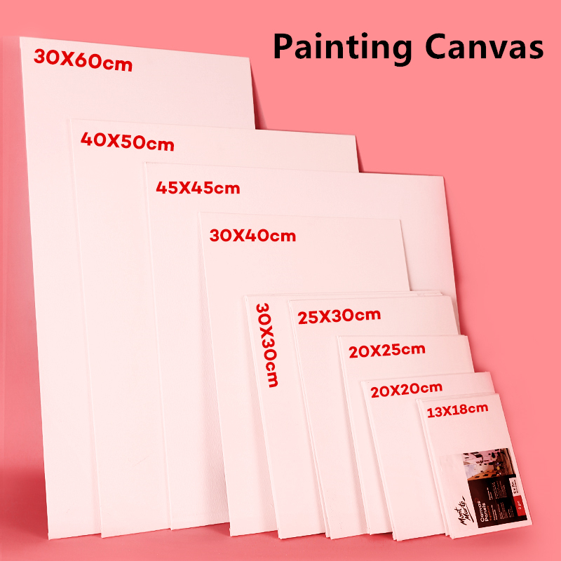 Free Shipping Multiple Sizes White Blank Square Artist Painting Canvas Panel For Oil Painting Acrylic Pigment