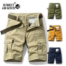 2021 nova primavera homens algodão carga shorts roupas verão casual bermudas moda praia calças los cortos carga curto