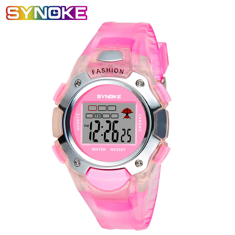 SYNOKE 2019 Kid Digital Watches For Boys Girls Relogios Silicone Strap Children Led Digital Wrist Watch Alarm Date Student Gift