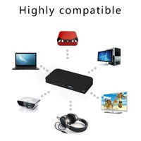 Universal Dual Display Docking Station Support HDMI/VGA Ethernet And Audio Jack For PC USB 3.0