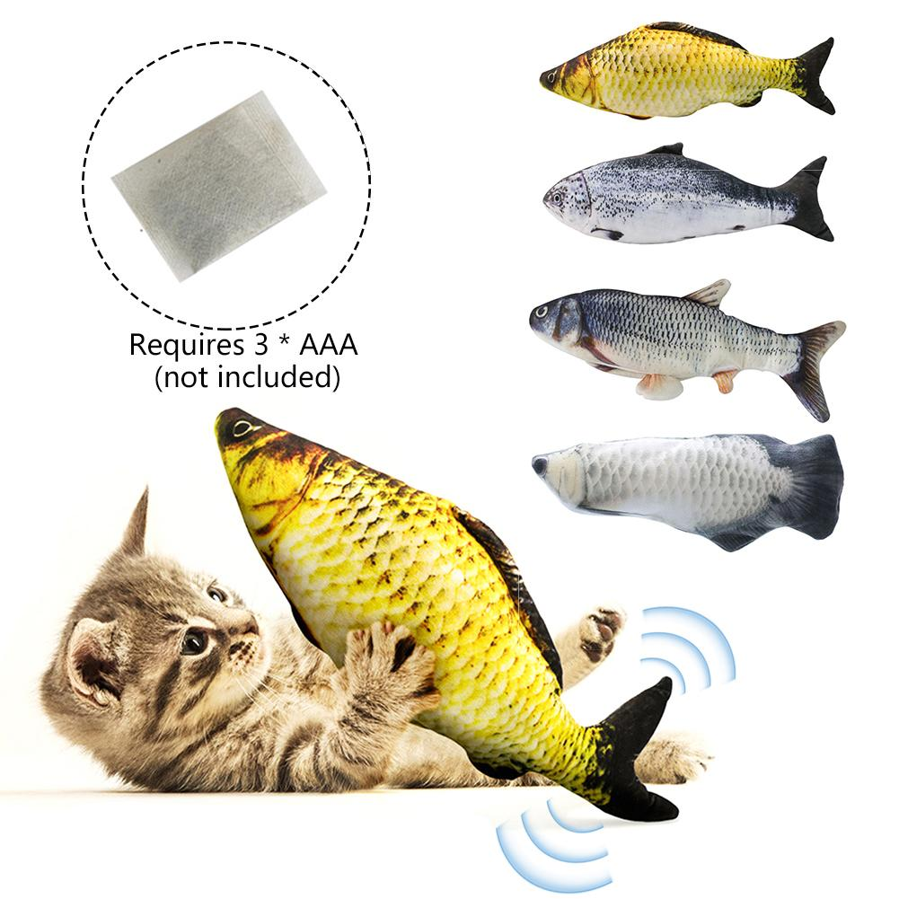 30CM Electronic Pet Cat Toy Electric Simulation Wagging Fish Toys Catnip Toys For Pet Dog Cat Chewing Playing Biting Supplies
