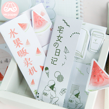 Mr Paper 72pcs/lot Watermelon Juice Carp Sakura Set for Diary Creative Folded Memo Pad Notepad Self-Stick Note Writing Memo Pads sodial r safe memo holder spike stick for bill receipt note paper order office desk