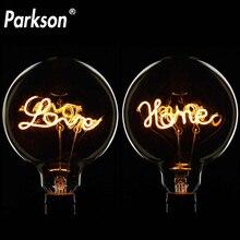 Bombilla Retro LED Edison G125 LOVE Edison E27, bombilla de filamento LED Vintage, Bombilla industrial, lámpara LED decorativa para el hogar