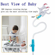 Flexible Shelf Safer With Strap Baby Monitor Holder Lazy Stand Long Arm Wall Mount For Crib Camera Mount No Drilling Universal(China)
