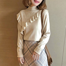 Wanita Sweater Turtleneck Hitam Korea Rajutan Sweater Manis Wanita Sweater dan Pullovers Moda Mujer 2020 Ropa KJ1706(China)