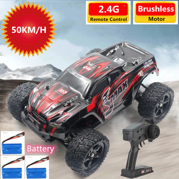 1/16 2.4G 4WD Waterproof Brushless Motor Off Road Climbing RC Car 50KM/H High Speed Vehicle Resistant Car Models Toys Boys Gifts image