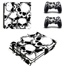 Cool Skull Style Skin Sticker for PS4 Pro Console And Controllers Decal Vinyl Skins Cover YSP4P-3395