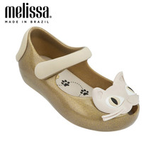 Mini Melissa Lovely Cat Girl Jelly Shoes Beach Sandals 2020 NEW Baby Shoes Soft Melissa Sandals Kids Non-slip Princess Shoes(China)