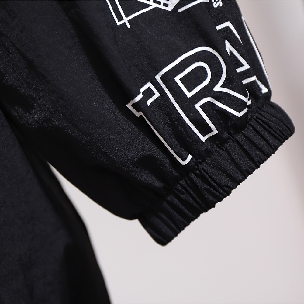 Image 5 - Весна Осень 2020, большие размеры, куртка для женщин, большие  повседневные свободные пальто на молнии с длинным рукавом и принтом, с  отворотом, белый 3XL 4XL 5XL 6XL 7XLБазовые куртки