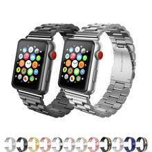 316L stainless steel strap for apple watch band 4 44mm 42mm 38mm metal link bracelet for iwatch series 3/2/1 correa accessories цена 2017