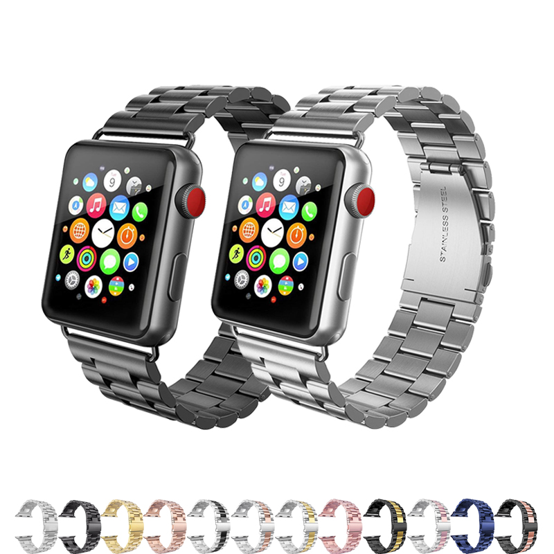 Stainless Steel Watch Band For Apple Watch Series 5/4/3/2/1 Strap 44mm 40mm 42mm 38mm Iwatch Bracelet Metal Correa Accessories