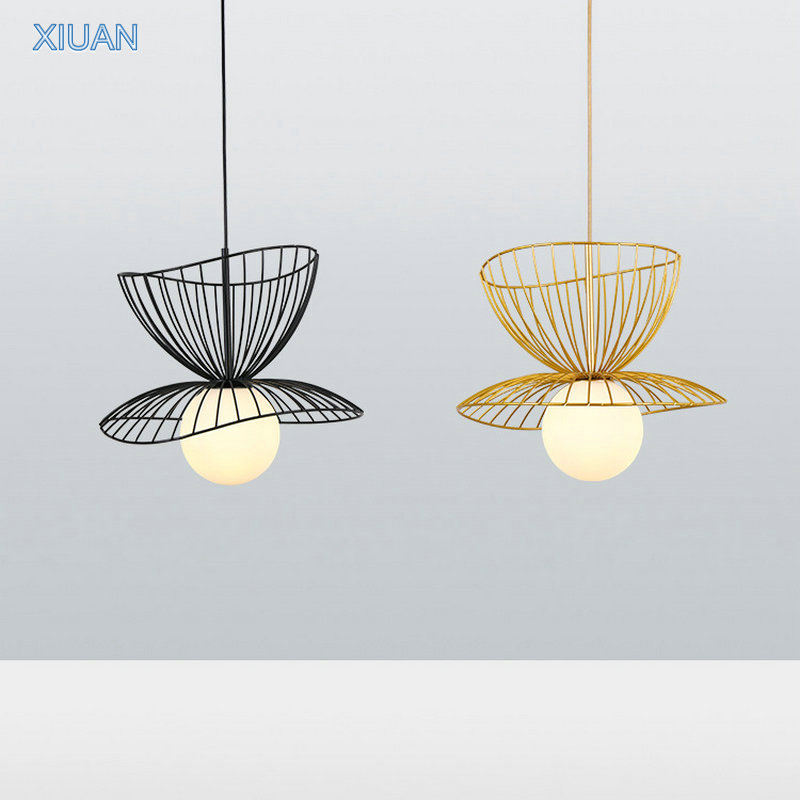 Creative Design Luxury Pendant Ceiling Lamp Home Decor Gold Black Metal Sconces LED Suspension Hanging lamp with Adjustable Wire 1