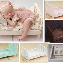 Newborn Photography Props Wood Bed Infant Poses Detachable Background Studio Props Gift Sofa Posing