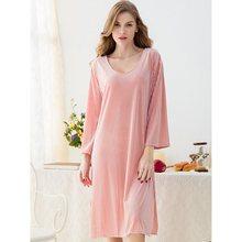 2019 Gold Velvet Warm Winter Womens Nightdress Flannel Nightgown Set Sleepwear Feminino Casual Sleepdress