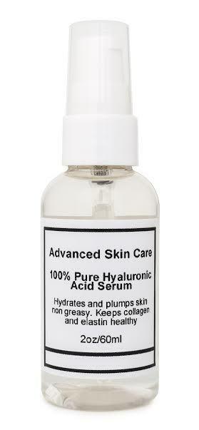 100% sérum acide hyaluronique pur Anti-âge-repulpe les rides-Hydration-2oz Intense hydratant et raffermissant
