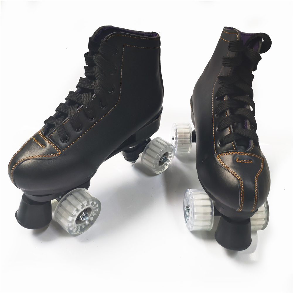 Top SaleSkate-Shoes Patines 4-Wheels Double-Line Adult Artificial Women PU with White