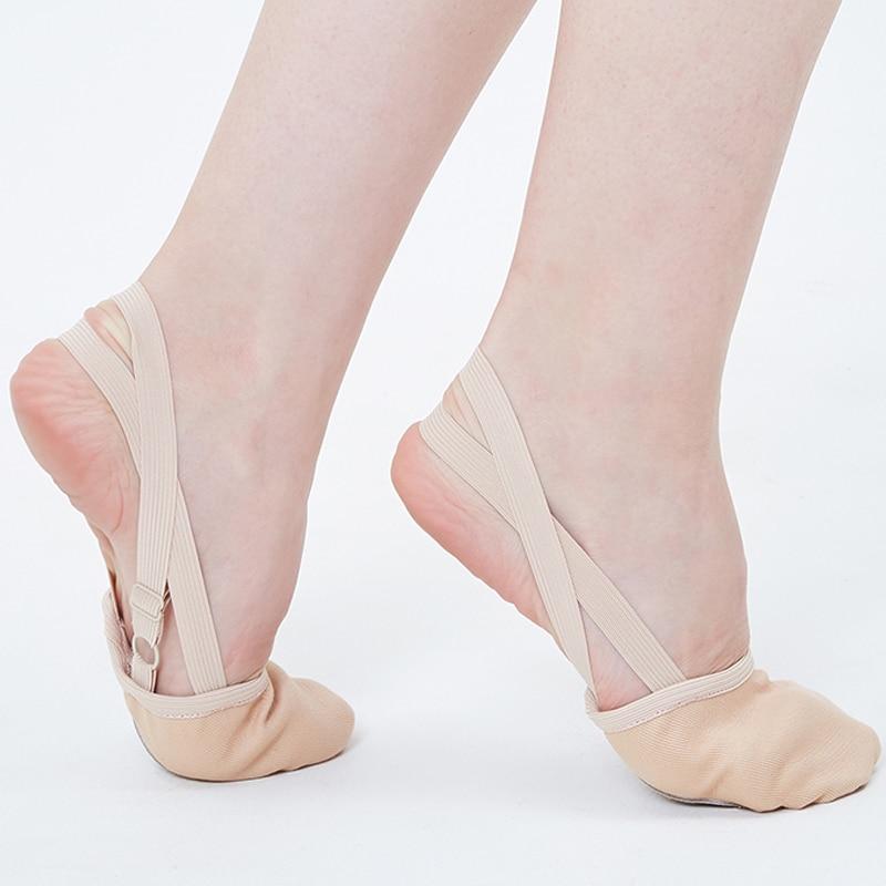 NEW Soft Half Knitted Socks Rhythmic Gymnastics Toe Shoes Elastic Dance Feet Protection Shoes Ballroom Accessories For Girls