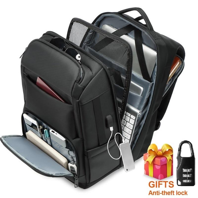 Men's Multi-function Travel Backpack Bag Large Capacity Anti-theft USB Charging Waterproof 17.3 Inch Laptop Backpack