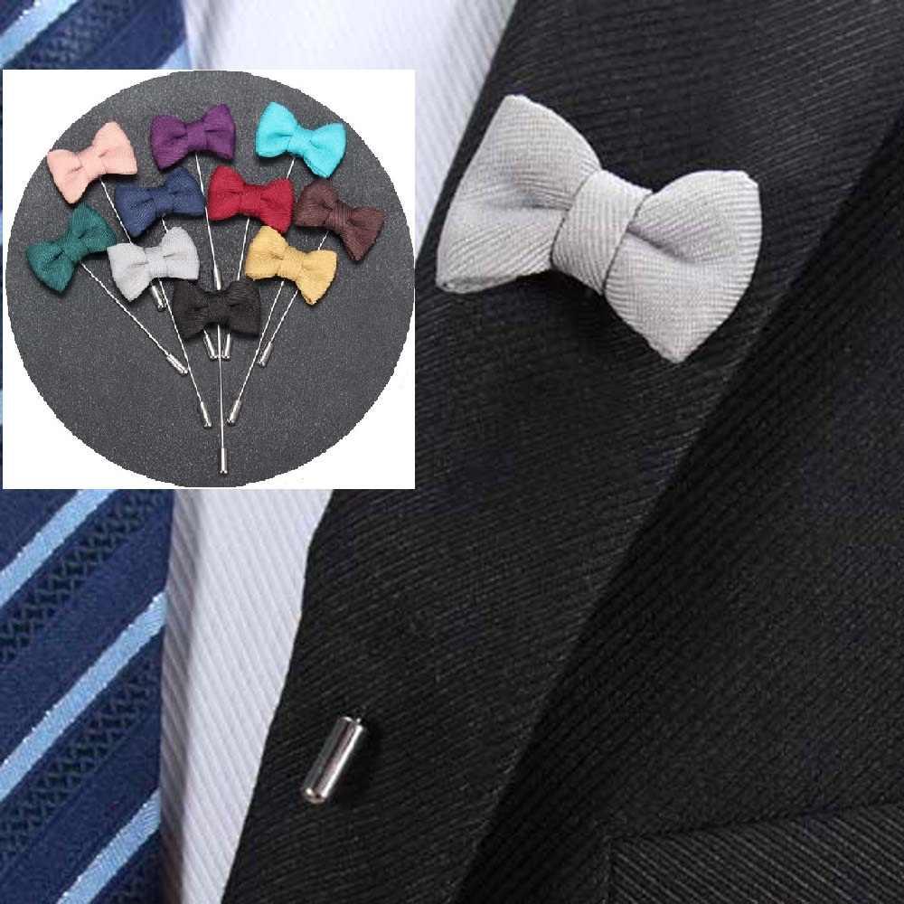 Vestito degli uomini Del Fiore della Rosa Dell'arco Spille Spilli Tessuto della Tela di canapa Nastro Cravatta Spilla per Le Donne E Gli Uomini del Vestito Dei Vestiti di Fiore All'occhiello spille