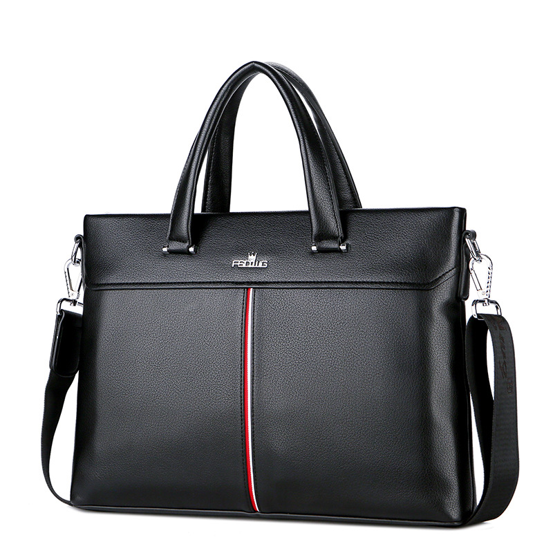 2018 New Style Men's Bag MEN'S Handbag Computer Bag 15-Inch Business Briefcase Gift Customization a Generation of Fat