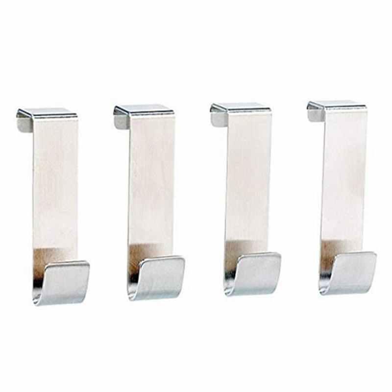 حامل تخزين من الفولاذ المقاوم للصدأ رف للمطبخ أشتات أدوات الحمام قبعات غرفة المعيشة 4 قطعة/المجموعة