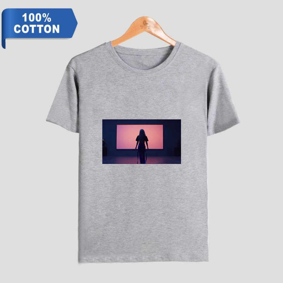 Everglow 앨범 hush5 여름 코튼 느슨한 컴포트 2019 새로운 adios kpop 반팔 셔츠 남성과 여성 라운드 칼라 티셔츠