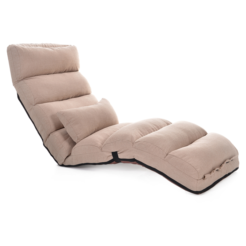 H1 Adjustable Lazy Sofa Floor Chair With Feet Cushion Cotton And Line Fabric Sofa Bed Strong Bearing Portable Leisure Chair