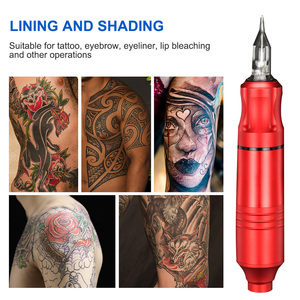 Image 5 - Top Selling Profession Rotating Pen Tattoo Machine Set Tattoo Pen Magician LCD Power Pedal Tattoo Supply Free Delivery