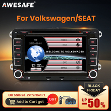 AWESAFE 2 Din 7 inch Car DVD GPS Radio Player For Volkswagen VW golf 5 6 touran passat B6 B7 sharan JATTA Skoda Seat Autoradio