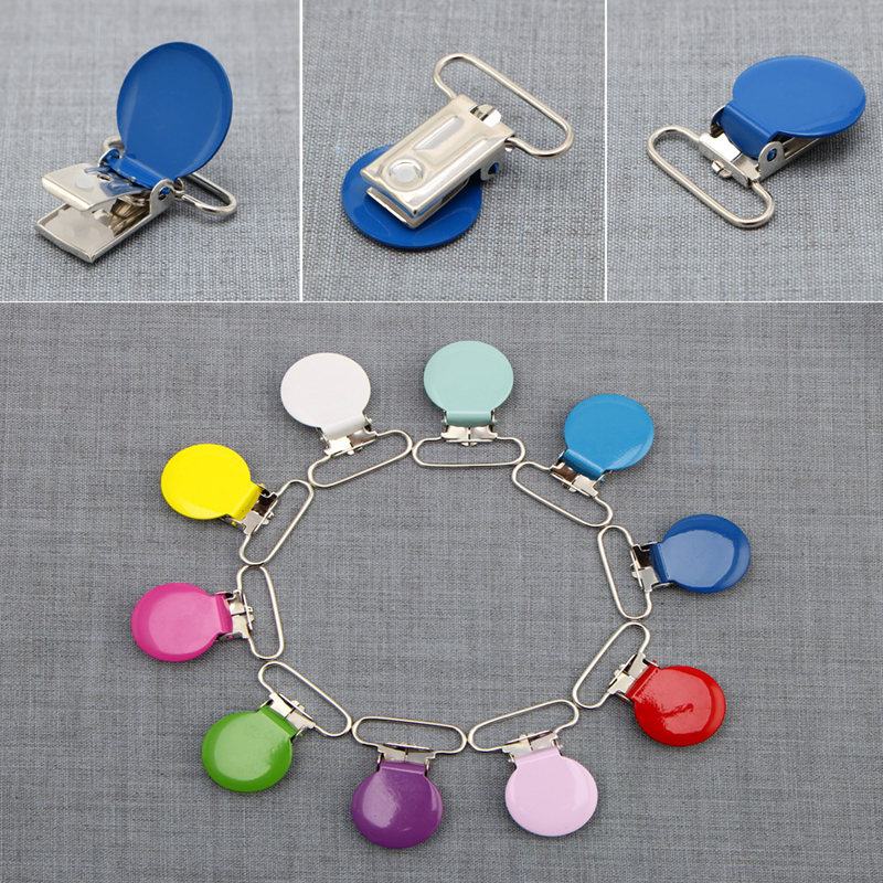 10Pcs Infant Baby Metal Clips Pacifier Holders Shape Alloy Suspender Hook in Pacifier from Mother Kids