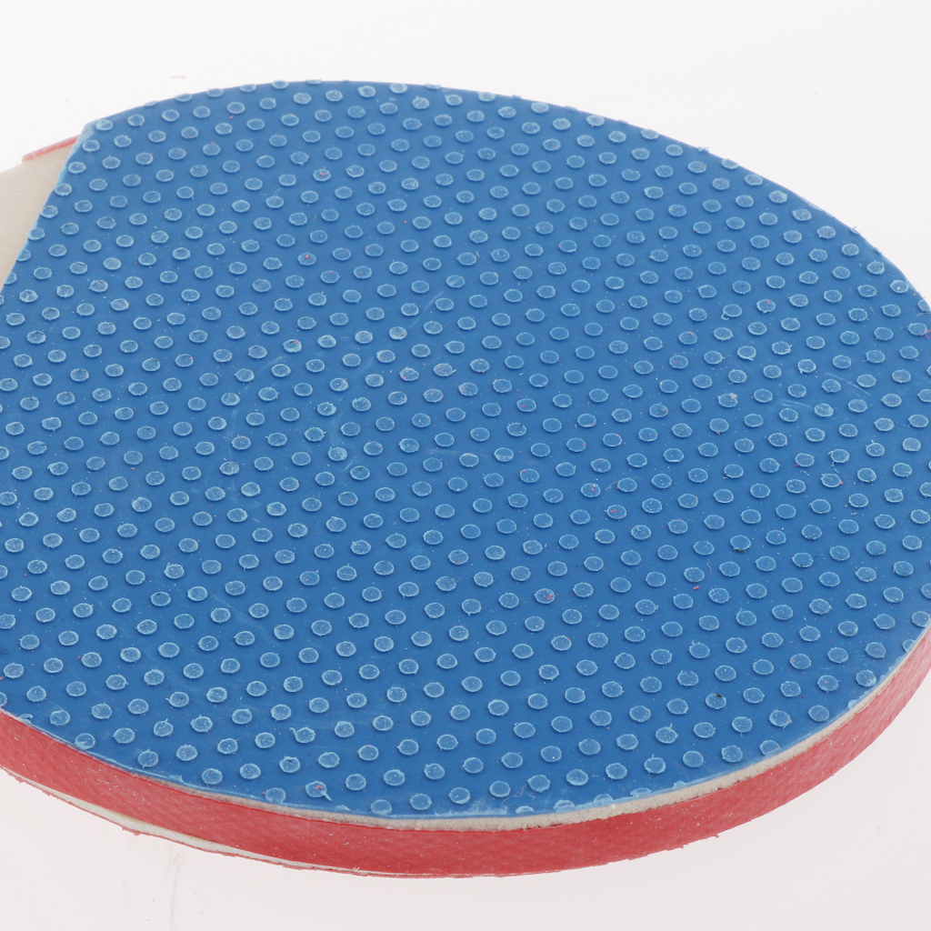 Azul 1 Pelota 1 Par Mini Raqueta de Ping-Pong de Doble Cara Rojo