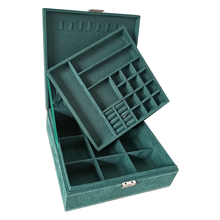Cost Effective Velvet Square Shape 2 Layers Jewelry Box With Safe Lock Highly Recommended