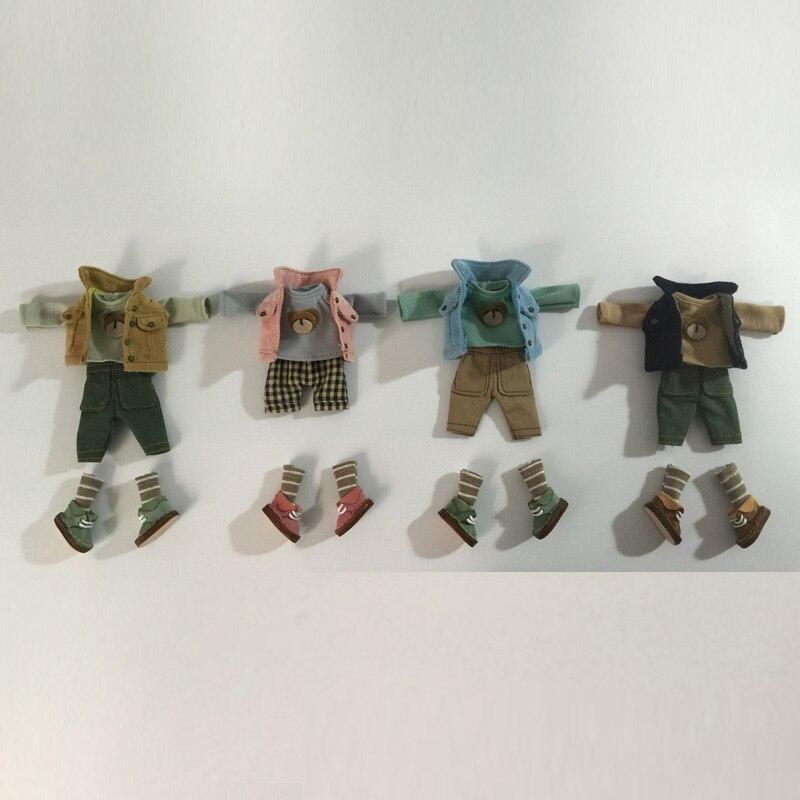 Ob11 детская одежда глина GSC BJD с длинными рукавами + пальто + брюки + носки + обувь Кукла одежда костюм аксессуары