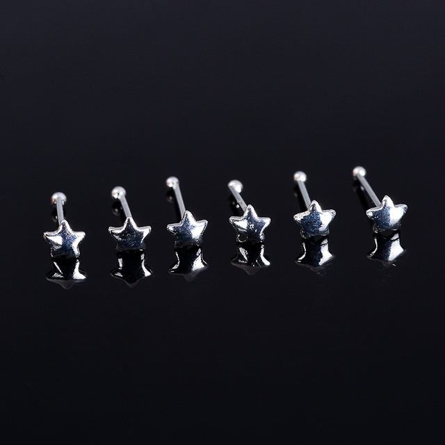 316L Stainless Steel Nose Studs Rings Piercing Pin Nostril Jewelry Gold& Color Nose Bone Stud 24PCS/One Case 20-22Gauge