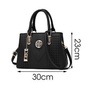 Image 5 - ใหม่เย็บปักถักร้อยไหล่กระเป๋าแฟชั่นสีMessengerหญิงTotes Crossbodyกระเป๋าผู้หญิงหนังกระเป๋าถือ