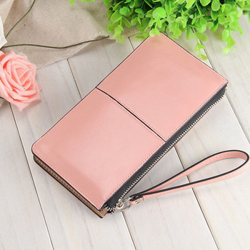 Fashion Capacious Leather Women's Wallet Bags and Wallets Hot Promotions New Arrivals Women's Wallets Color: Pink