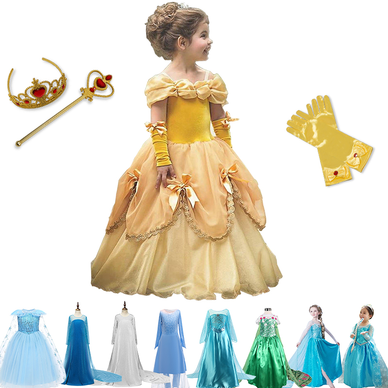 2021 Dress For Girl Birthday Party Cosplay Costume Fancy Children Dress Up Vestido Girls Clothes 1