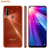 4G мобильный телефон OUKITEL C17 Android 9,0 смартфон 6,35 ''распознавание лица отпечаток пальца Восьмиядерный 3 Гб 16 Гб 3900 мАч Тройная камера MT6763